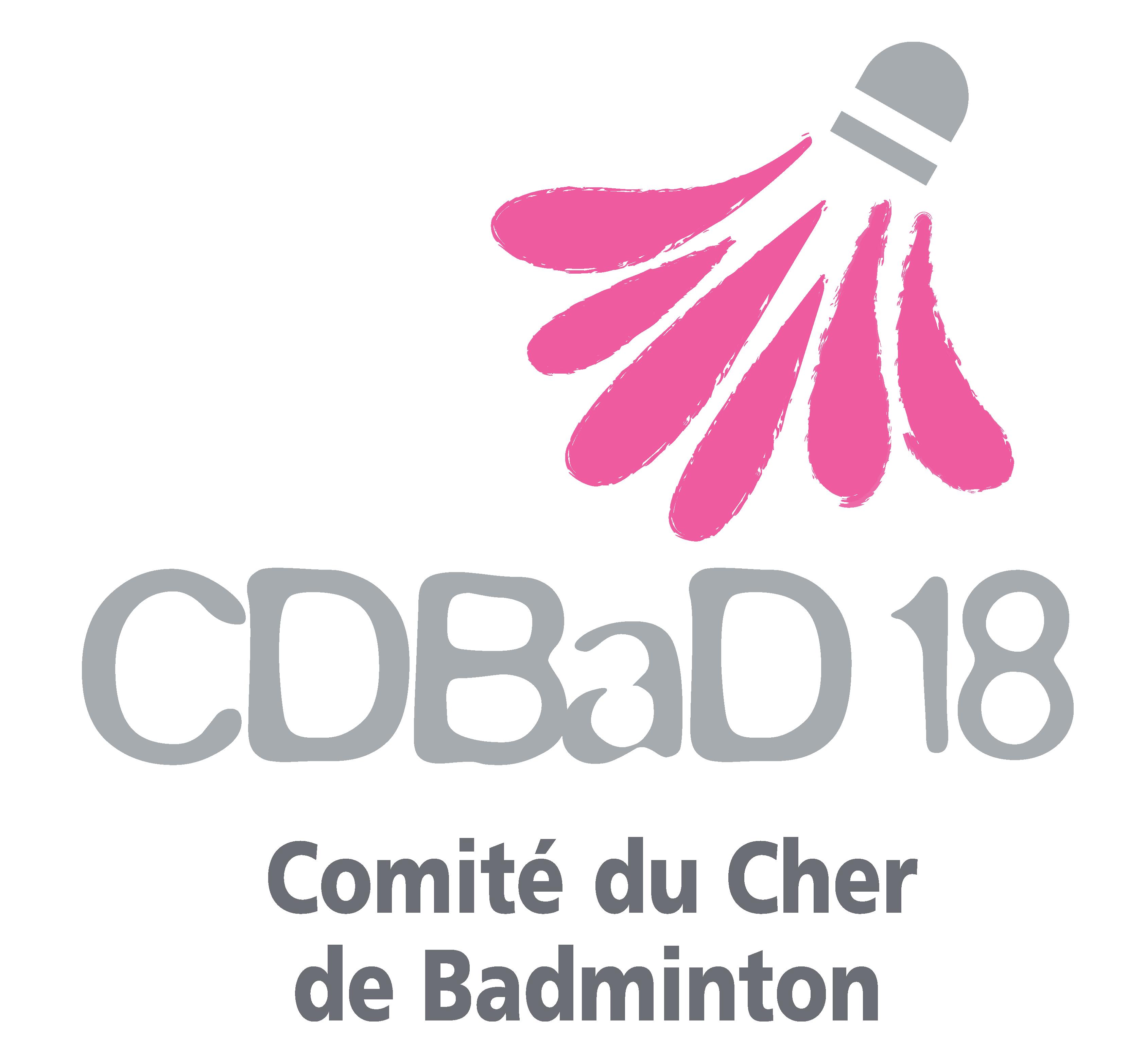 logo comité départemental badminton du Cher (18)